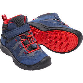 Keen Hikeport Mid WP Shoes Children Dress Blues/Firey Red